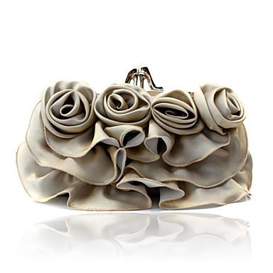 великолепные атласные вечерние сумочки оболочки больше цветов