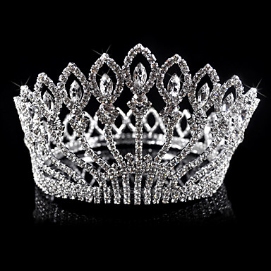 aleación preciosa con diamantes de imitación tiara nupcial austria