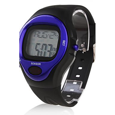 Bărbați Ceas Sport Piloane de Menținut Carnea Alarmă Calendar Cronograf Pulsometru LCD Bandă Negru