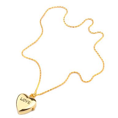 Dámské Módní hodinky Hodinky na krk Hodinky na klíčenku Křemenný Kapela Heart Shape Zlatá