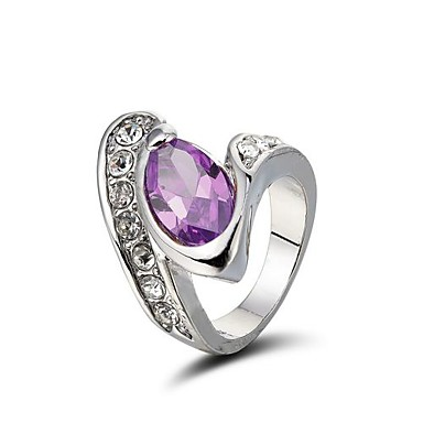 Gorgeous 18K White Gold Plated Cubic Zirconia Ring (More Colors)