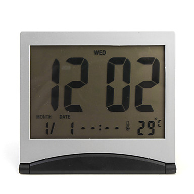 Flip-up-LCD-Digital-Wecker Kalender Thermometer