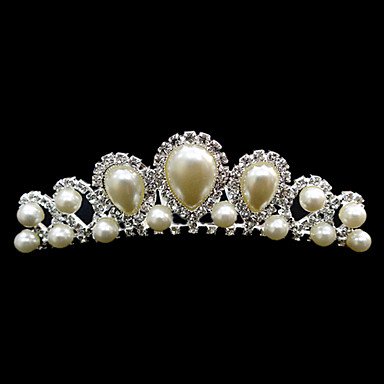 Gorgeous Rhinestones With Imitation Pearl Wedding Bridal Headpiece