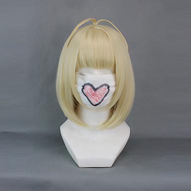Ao no Exorcist Shiemi Moriyama Mujer 16 pulgada Fibra resistente al calor Dorado Animé Pelucas de Cosplay