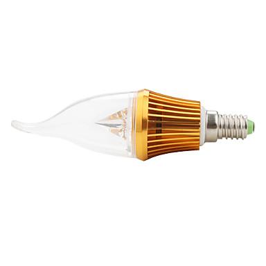 E14 Becuri LED Lumânare CA35 3 led-uri LED Putere Mare 300lm Alb Cald Decorativ AC 85-265