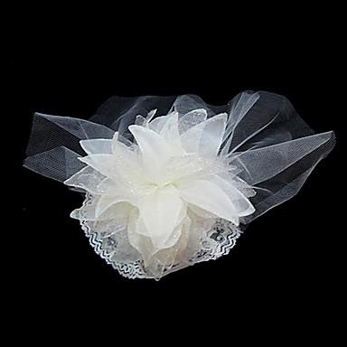 Femme Satin Tulle Casque-Mariage Occasion spéciale Coiffure Fleurs