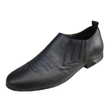 Performance Dance Shoes Real Leather Upper Modern Shoes for Men Customizable