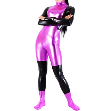 Sjajna zentai odijela Ninja Zentai odijela Cosplay Nošnje Pink Print / Kolaž Hula-hopke / Onesie / Zentai odijela / Catsuit Spandex Žene Halloween / Visoka elastičnost