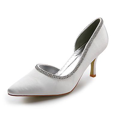 damesschoenen wees teen stelitto hiel satijnen pumps trouwschoenen meer kleuren beschikbaar