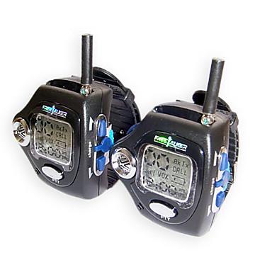 20 canales de reloj de pulsera estilo walkie talkie con luz de fondo de gran pantalla LCD
