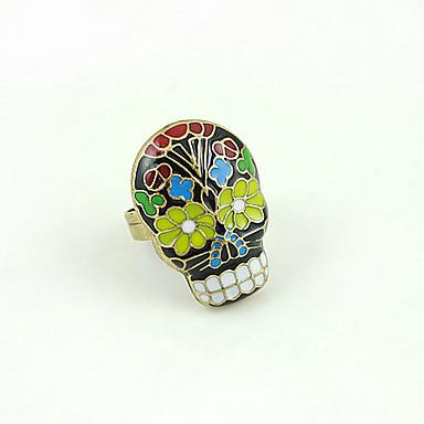 anel de caveira colorido
