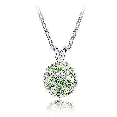 De 45 cm brilhante bola de cristal austríaco colar
