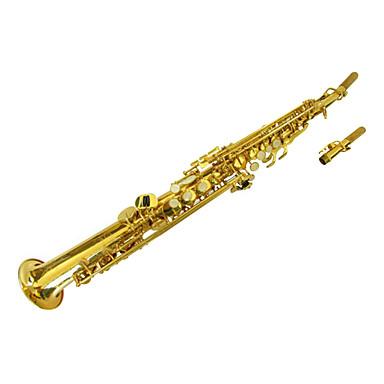 saxo soprano de oro lacado