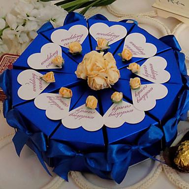 Yuvarlak / Dörtgen İnci Kağıdı Favor Tutucu ile Kurdeleler / Çiçekli Hediye Kutuları