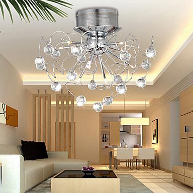 krystal loftslampe med 9 lys i kunstnerisk stil