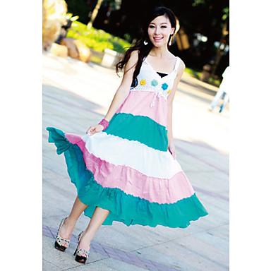 Cotton Straps Maxi Dress (More Colors)