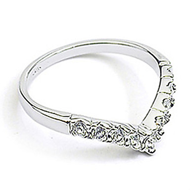 Women's Crystal / Imitation Diamond / Alloy Heart Band Ring - Love / Heart / Birthstones Silver / Golden Ring For