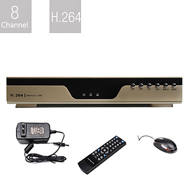 à très faible prix de 8 canaux DVR (compression H.264, réseau)