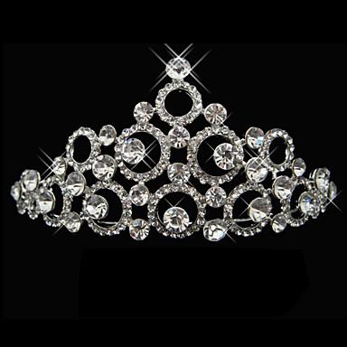 chic legering med rhinestone kunstnerisk cirkel brude tiara