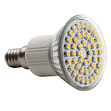 150lm E14 LED-spotlys MR16 48 LED Perler SMD 3528 Varm hvid 220-240V