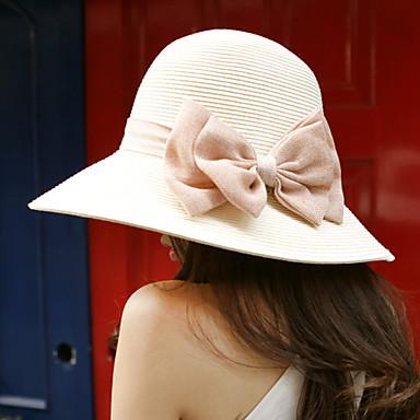 Statement Bowtie Straw Bucket Hat