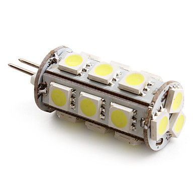 1.5W G4 LED Corn Lights T 18 SMD 5050 110 lm Natural White DC 12 V