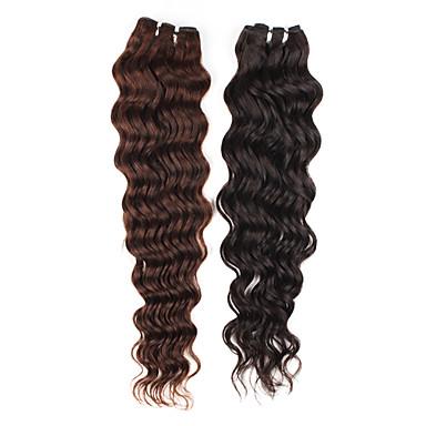 20 pulgadas rizado pelo remy brasileño tejen la extensión del pelo