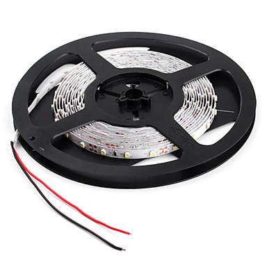 billige LED Strip Lamper-JIAWEN 5 m Fleksible LED-lysstriper 300 LED 3528 SMD Hvit Dekorativ / Passer for kjøretøy / Selvklebende 12 V 1pc / IP44