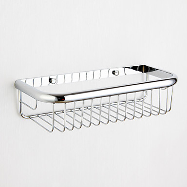 Contemporary Chrome Wall-mounted Soap Basket Installaion Hole Distance 18cm