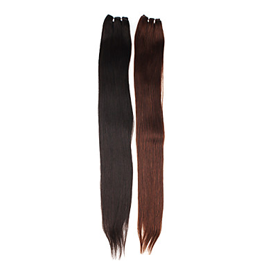 30 Inch Hand-tied Straight Brazilian Hair Weave Hair Extension