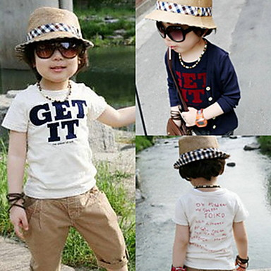 ребенка письмо с коротким рукавом футболки