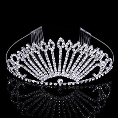 underbara cubic zirconia i legering påfågel formad tiara