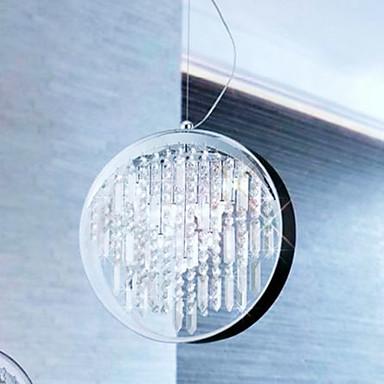 comtemporaine feux pendentif en cristal avec 6 lumières en anneau de fer