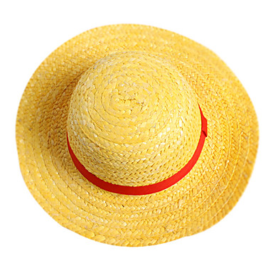 Sombrero   Gorra Inspirado por One Piece Monkey D. Luffy Animé Accesorios  de Cosplay Tapa 99a09a2af94