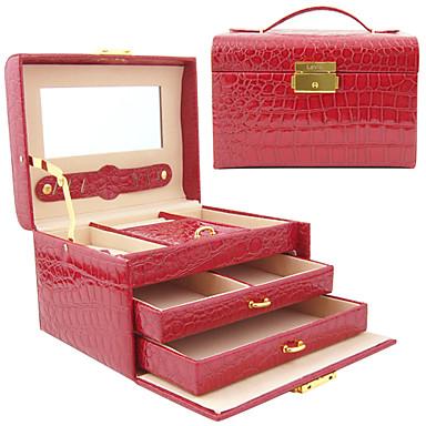 Princess Alligatoring Leatherette Ladies'Jewelry Box(More Colors)