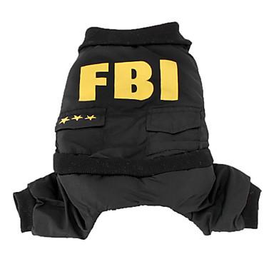 Hund Kostume Jumpsuits Hundetøj Politi/Militær Sort Bomuld Kostume For kæledyr Herre Sødt Cosplay
