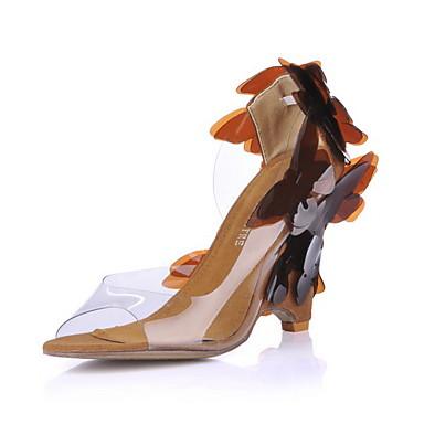 bombas de peep toe couro sintético / sandálias partido / noite sapatos com bowknot (cores mais)