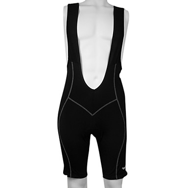 Kooplus Men's Cycling Bib Shorts - Black Red Blue Grey Bike Shorts Bib Shorts, 3D Pad, Quick Dry, Breathable, Reflective Strips, Spring