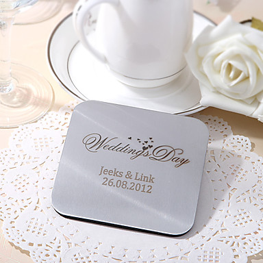Material Classical Square Shaped Coaster Favors - 6 Piece/Set Vegas Theme Holiday Classic Theme