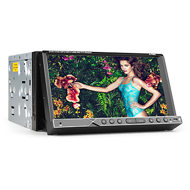 2 DIN tft 7-palcový displej v palubní desce auta DVD přehrávač s iPod-vstupem, bluetooth, navigace GPS-ready, rds, tv