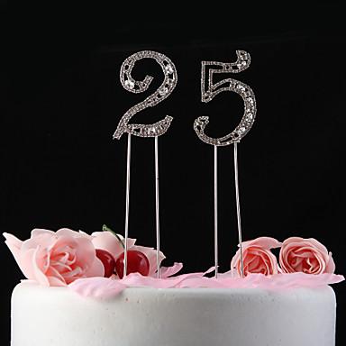 Figure za torte Klasični Tema Kristal godišnjica Rođendan s Štras Poli Bag