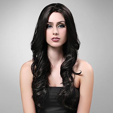 Pruik Lace Front Synthetisch Haar Dames Black Pruik Dagelijks