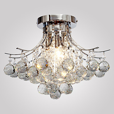 Lightinthebox Flush Mount Ambient Light Chrome Metal Crystal, Mini Style 110-120V / 220-240V Bulb not included / E12 / E14