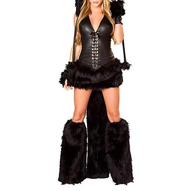 sexy woman black fancy dress cheshire cat corset halloween