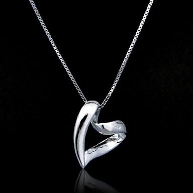 Fine smykker Bare vri Hjerte Sterling Sølv halskjede
