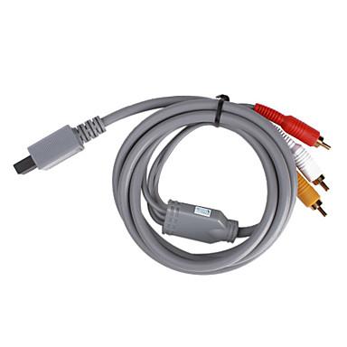 billige Wii U-tilbehør-s-video AV-kabel for wii / wii u (grå)