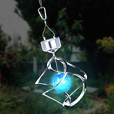 Solar LED Colour Changing Saturn Wind Spinner Hanging Spiral Light
