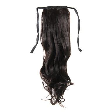 laceup 밤 갈색 긴 곱슬 머리 조각-3 색상을 사용할 수 ponytails