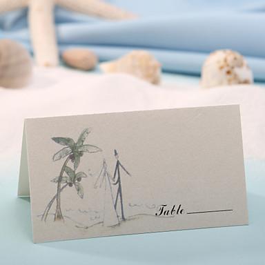 yer kartı - mutlu düğün (12 set) plakalı sahipler düğün