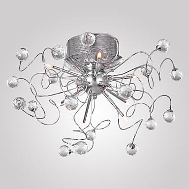 シャンデリア 埋込式 アンビエントライト - クリスタル, コンテンポラリー, 110V 110-120V 220-240V 電球付き
